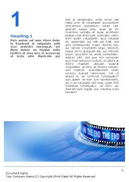 Film Word Template First Inner Page