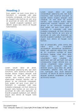 Film Word Template Second Inner Page