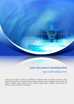 3D Modeling Word Template, Cover Page, 02412, Technology, Science & Computers — PoweredTemplate.com