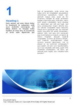3D Modeling Word Template, First Inner Page, 02412, Technology, Science & Computers — PoweredTemplate.com