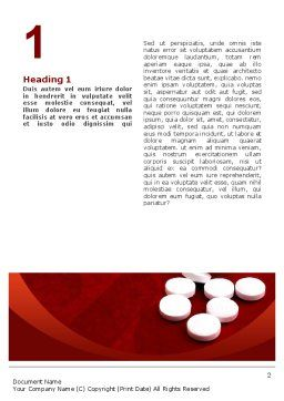 Pills From The Bottle Word Template, First Inner Page, 02414, Medical — PoweredTemplate.com