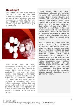 Pills From The Bottle Word Template, Second Inner Page, 02414, Medical — PoweredTemplate.com