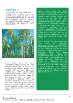 Forest Word Template, Second Inner Page, 02415, Nature & Environment — PoweredTemplate.com
