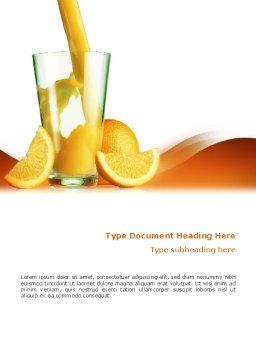 Orange Juice Word Template, Cover Page, 02416, Food & Beverage — PoweredTemplate.com