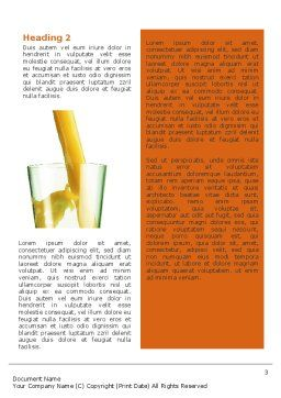Orange Juice Word Template, Second Inner Page, 02416, Food & Beverage — PoweredTemplate.com