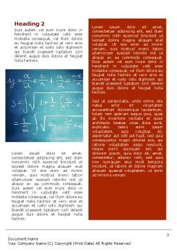 Math Word Template, Second Inner Page, 02418, Education & Training — PoweredTemplate.com
