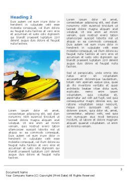 Water Motorcycle Word Template, Second Inner Page, 02421, Sports — PoweredTemplate.com