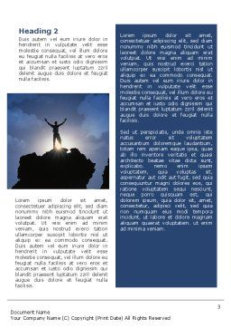 Climber On The Top Word Template, Second Inner Page, 02422, Nature & Environment — PoweredTemplate.com