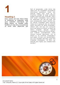 Pocket Compass Word Template, First Inner Page, 02424, Global — PoweredTemplate.com