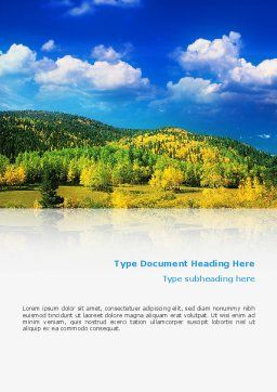 Scenery Word Template, Cover Page, 02425, Nature & Environment — PoweredTemplate.com