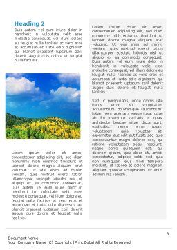 Scenery Word Template, Second Inner Page, 02425, Nature & Environment — PoweredTemplate.com