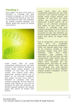 Film Strip In Light Yellow Green Colors Word Template Second Inner Page