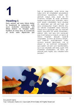 Pieces of Puzzle Word Template, First Inner Page, 02430, Business Concepts — PoweredTemplate.com