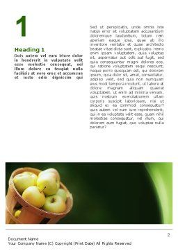 Basket of Apples Word Template, First Inner Page, 02432, Food & Beverage — PoweredTemplate.com