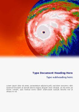 Cyclone Word Template, Cover Page, 02433, Nature & Environment — PoweredTemplate.com