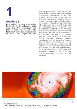 Cyclone Word Template, First Inner Page, 02433, Nature & Environment — PoweredTemplate.com