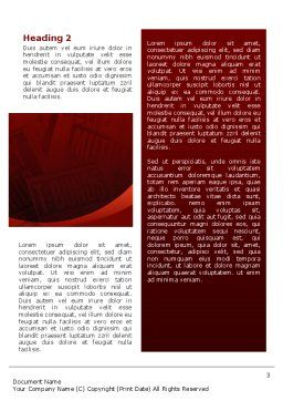 Investment Consulting Word Template Second Inner Page