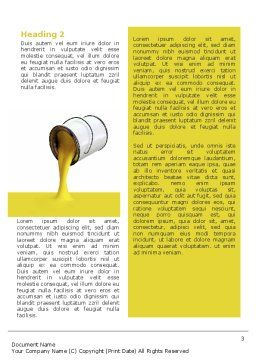Yellow Paint Word Template, Second Inner Page, 02440, Utilities/Industrial — PoweredTemplate.com