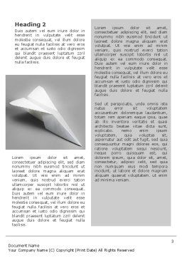 Paper Airplane Word Template, Second Inner Page, 02441, Construction — PoweredTemplate.com