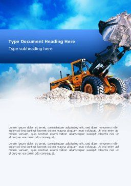 Loading Word Template, Cover Page, 02443, Utilities/Industrial — PoweredTemplate.com