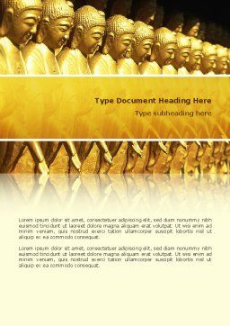 Statues of Buddha Word Template Cover Page