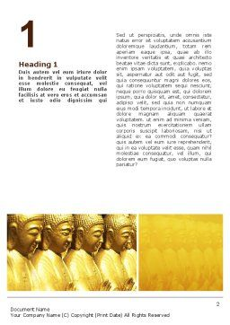 Statues of Buddha Word Template First Inner Page