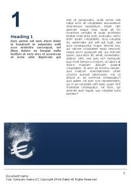 Euro Under Water Word Template, First Inner Page, 02447, Financial/Accounting — PoweredTemplate.com