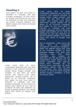 Euro Under Water Word Template, Second Inner Page, 02447, Financial/Accounting — PoweredTemplate.com