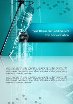 Medicine Dropper Word Template, Cover Page, 02448, Medical — PoweredTemplate.com
