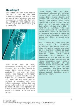 Medicine Dropper Word Template, Second Inner Page, 02448, Medical — PoweredTemplate.com