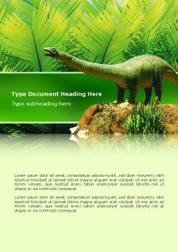 Dinosaur Word Template, Cover Page, 02449, Agriculture and Animals — PoweredTemplate.com