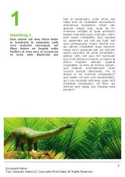 Dinosaur Word Template, First Inner Page, 02449, Agriculture and Animals — PoweredTemplate.com