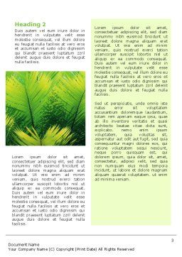 Dinosaur Word Template, Second Inner Page, 02449, Agriculture and Animals — PoweredTemplate.com