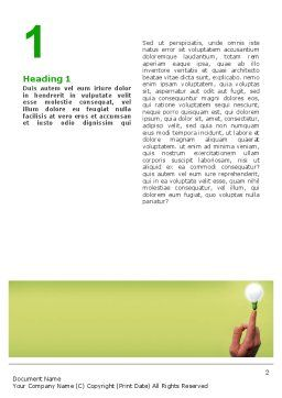 Lamp on Finger Word Template, First Inner Page, 02453, Business Concepts — PoweredTemplate.com
