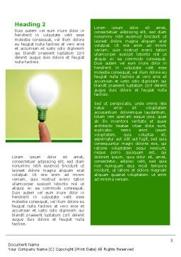 Lamp on Finger Word Template, Second Inner Page, 02453, Business Concepts — PoweredTemplate.com