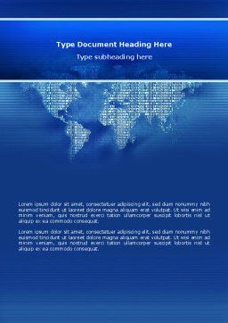 Digital Communication World Word Template Cover Page