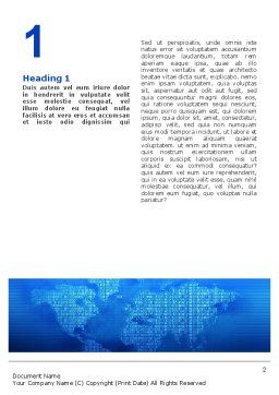 Digital Communication World Word Template First Inner Page