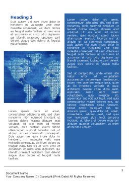 Digital Communication World Word Template Second Inner Page