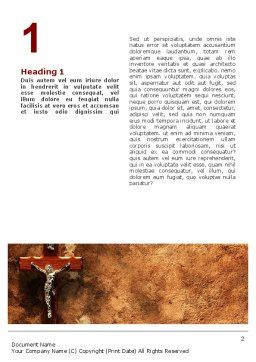 Crucifixion Word Template, First Inner Page, 02456, Religious/Spiritual — PoweredTemplate.com