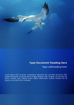 Albatross Word Template, Cover Page, 02459, Nature & Environment — PoweredTemplate.com