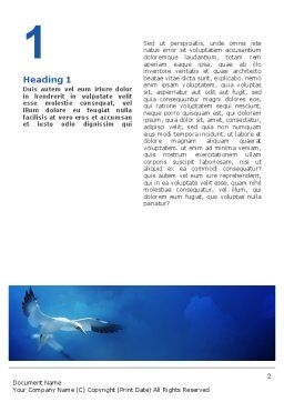 Albatross Word Template, First Inner Page, 02459, Nature & Environment — PoweredTemplate.com