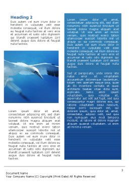 Albatross Word Template, Second Inner Page, 02459, Nature & Environment — PoweredTemplate.com