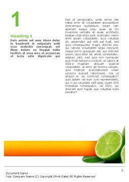 Lime Word Template, First Inner Page, 02460, Food & Beverage — PoweredTemplate.com