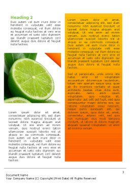 Lime Word Template, Second Inner Page, 02460, Food & Beverage — PoweredTemplate.com