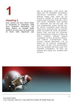 American Football Carolina Panthers Word Template, First Inner Page, 02461, Sports — PoweredTemplate.com