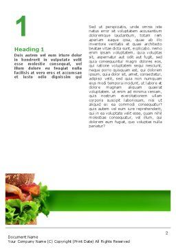 Burger Word Template, First Inner Page, 02463, Food & Beverage — PoweredTemplate.com