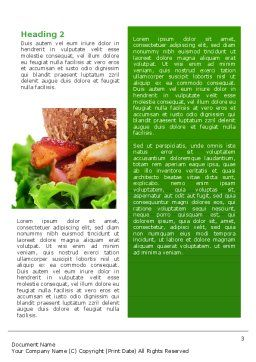 Burger Word Template, Second Inner Page, 02463, Food & Beverage — PoweredTemplate.com