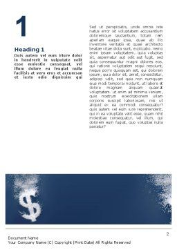 Dollar In Deep Dive Word Template First Inner Page
