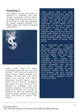 Dollar In Deep Dive Word Template Second Inner Page