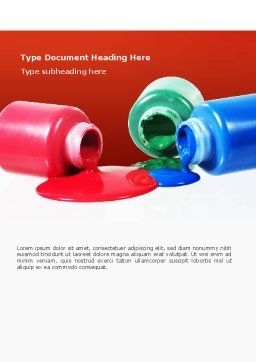 Paint Cans Word Template, Cover Page, 02465, Utilities/Industrial — PoweredTemplate.com